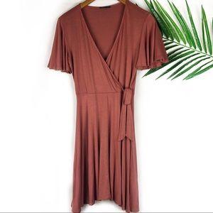 Soprano Wrap Dress Medium V Neck